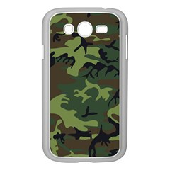 Camouflage Green Brown Black Samsung Galaxy Grand DUOS I9082 Case (White) by Nexatart