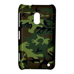 Camouflage Green Brown Black Nokia Lumia 620 by Nexatart