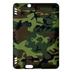 Camouflage Green Brown Black Kindle Fire Hdx Hardshell Case by Nexatart