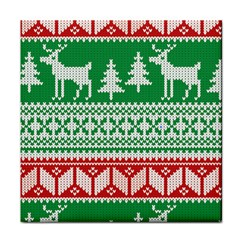 Christmas Jumper Pattern Tile Coasters