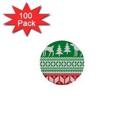 Christmas Jumper Pattern 1  Mini Buttons (100 Pack)
