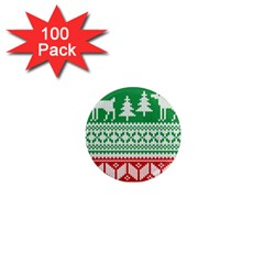 Christmas Jumper Pattern 1  Mini Magnets (100 Pack)