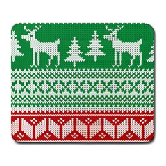 Christmas Jumper Pattern Large Mousepads by Nexatart