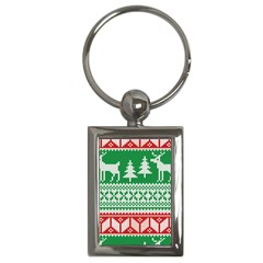 Christmas Jumper Pattern Key Chains (rectangle)