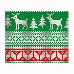 Christmas Jumper Pattern Small Glasses Cloth (2-Side) by Nexatart