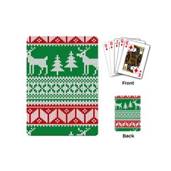 Christmas Jumper Pattern Playing Cards (mini)  by Nexatart