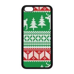 Christmas Jumper Pattern Apple Iphone 5c Seamless Case (black) by Nexatart