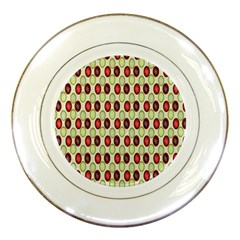 Christmas Pattern Porcelain Plates by Nexatart