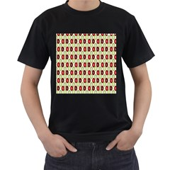 Christmas Pattern Men s T Shirt (black)