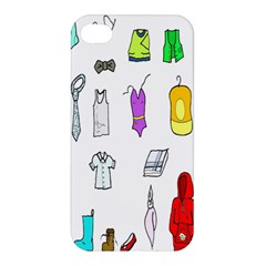 Clothing Boots Shoes Shorts Scarf Apple Iphone 4/4s Premium Hardshell Case by Nexatart