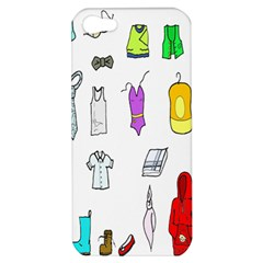 Clothing Boots Shoes Shorts Scarf Apple Iphone 5 Hardshell Case by Nexatart