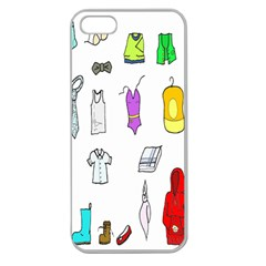 Clothing Boots Shoes Shorts Scarf Apple Seamless Iphone 5 Case (clear) by Nexatart