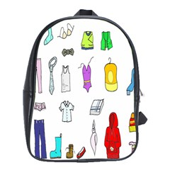Clothing Boots Shoes Shorts Scarf School Bags (xl)  by Nexatart