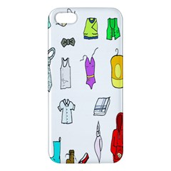 Clothing Boots Shoes Shorts Scarf Apple Iphone 5 Premium Hardshell Case by Nexatart