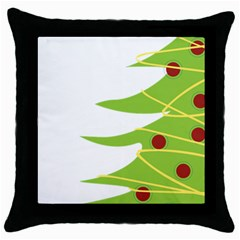 Christmas Tree Christmas Throw Pillow Case (black)