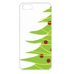 Christmas Tree Christmas Apple Iphone 5 Seamless Case (white) by Nexatart