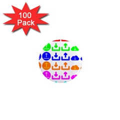 Download Upload Web Icon Internet 1  Mini Magnets (100 Pack)