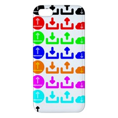 Download Upload Web Icon Internet Apple Iphone 5 Premium Hardshell Case