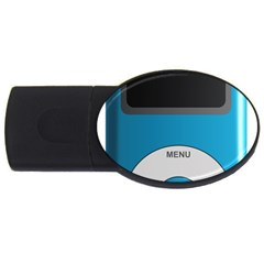 Digital Mp3 Musik Player Usb Flash Drive Oval (2 Gb) by Nexatart