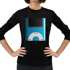 Digital Mp3 Musik Player Women s Long Sleeve Dark T Shirts