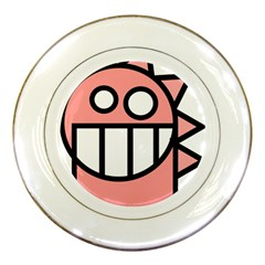 Dragon Head Pink Childish Cartoon Porcelain Plates