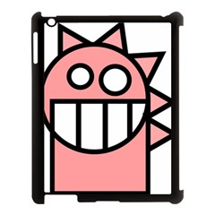 Dragon Head Pink Childish Cartoon Apple Ipad 3/4 Case (black)