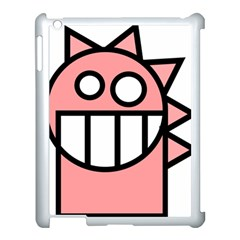 Dragon Head Pink Childish Cartoon Apple Ipad 3/4 Case (white)