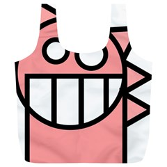 Dragon Head Pink Childish Cartoon Full Print Recycle Bags (l)  by Nexatart