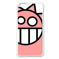 Dragon Head Pink Childish Cartoon Apple Iphone 6 Plus/6s Plus Enamel White Case by Nexatart