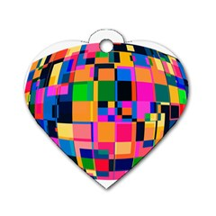 Color Focusing Screen Vault Arched Dog Tag Heart (two Sides) by Nexatart