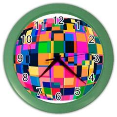 Color Focusing Screen Vault Arched Color Wall Clocks