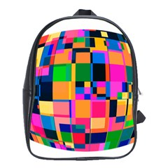 Color Focusing Screen Vault Arched School Bags (xl)