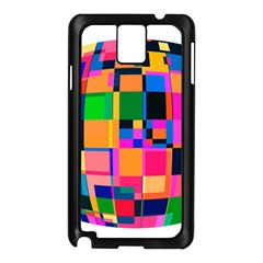 Color Focusing Screen Vault Arched Samsung Galaxy Note 3 N9005 Case (black)