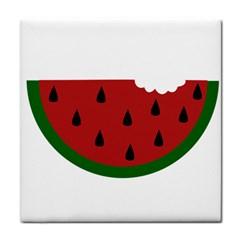 Food Slice Fruit Bitten Watermelon Face Towel