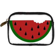 Food Slice Fruit Bitten Watermelon Digital Camera Cases