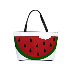 Food Slice Fruit Bitten Watermelon Shoulder Handbags by Nexatart