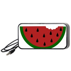 Food Slice Fruit Bitten Watermelon Portable Speaker (black) by Nexatart