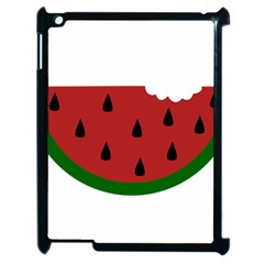 Food Slice Fruit Bitten Watermelon Apple iPad 2 Case (Black) by Nexatart