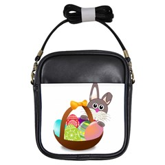 Easter Bunny Eggs Nest Basket Girls Sling Bags