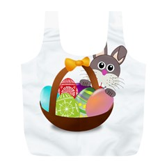 Easter Bunny Eggs Nest Basket Full Print Recycle Bags (l)
