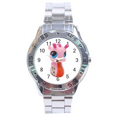 Dragon Toy Pink Plaything Creature Stainless Steel Analogue Watch by Nexatart