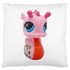 Dragon Toy Pink Plaything Creature Large Cushion Case (two Sides) by Nexatart