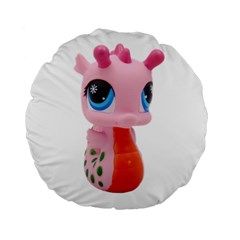 Dragon Toy Pink Plaything Creature Standard 15  Premium Round Cushions by Nexatart