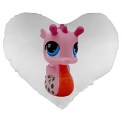 Dragon Toy Pink Plaything Creature Large 19  Premium Heart Shape Cushions