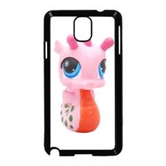 Dragon Toy Pink Plaything Creature Samsung Galaxy Note 3 Neo Hardshell Case (black) by Nexatart