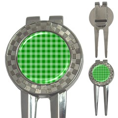 Gingham Background Fabric Texture 3 In 1 Golf Divots