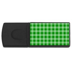 Gingham Background Fabric Texture Usb Flash Drive Rectangular (4 Gb)