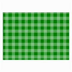 Gingham Background Fabric Texture Large Glasses Cloth (2 Side)