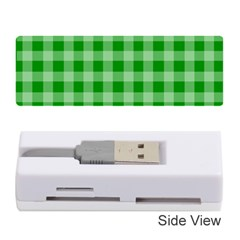 Gingham Background Fabric Texture Memory Card Reader (stick)  by Nexatart
