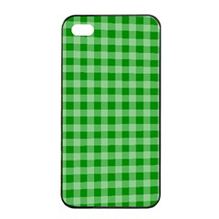 Gingham Background Fabric Texture Apple Iphone 4/4s Seamless Case (black) by Nexatart